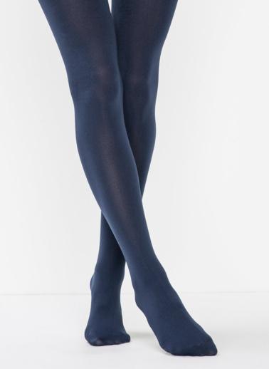 Penti Siyah Termal Külotlu Çorap Mavi